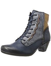 Rieker Women Ankle Boots blue, (navy/ozean/brandy/mu) Y7214-15