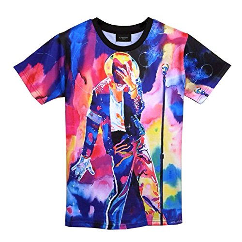 Catamaran Unisex Clothing Mens Michael jackson 3d Teen T Shirts (Michael Jackson Outfits)