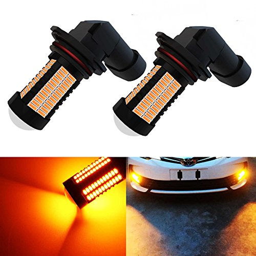 YaaGoo 9005 Yellow LED DRL Driving Fog Light,Replacement of Halogen,360 degree super bright,106pcs LED bulbs