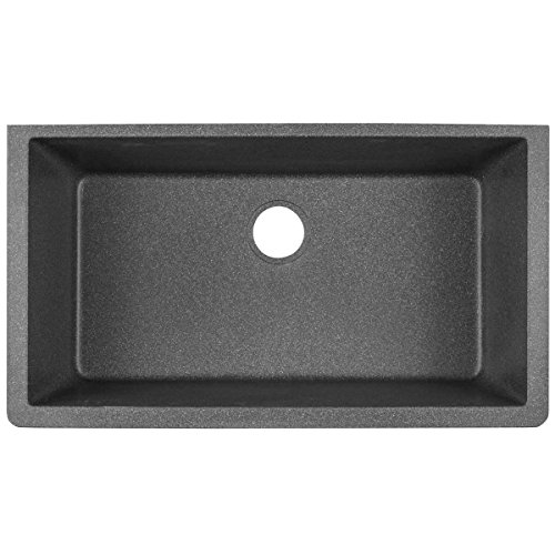 Elkay Quartz Classic ELGRU13322SL0 Slate Single Bowl Undermount Kitchen Sink