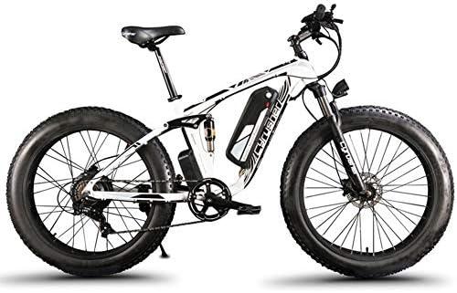 Extrbici eléctrica Bicicleta para Hombres 1000W 48V 26 Pulgadas Deportes al Aire Libre Adultos MTB Neumático Grande Tres Modos de conducción XF800(Blanco y Negro): Amazon.es: Deportes y aire libre