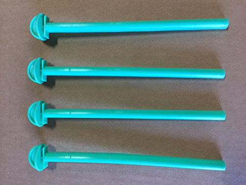 (Mcage Lot of 4 Bird Cage 8 Inch Plastic Perches)