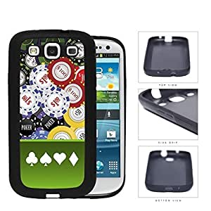 Casino Gambling Poker Chips Rubber Silicone TPU Cell Phone Case Samsung Galaxy S3 SIII I9300