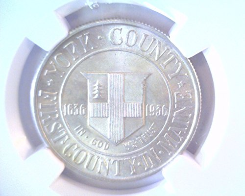 Commemorative Half Dollar Gem - 1936 York County Silver Commemorative Half Dollar NGC MS67 Gem Brilliant Uncirculated !
