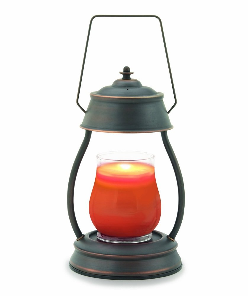 CC Home Furnishings 13'' Decorative Black and Brown Oil Rubbed Bronze Hurricane Candle Warmer Lantern