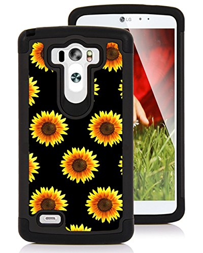 CorpCase LG G3 Case - Hipster Sunflowers Sunflower Pattern/ Hybrid Unique Case With Great Protection