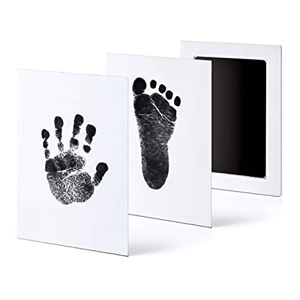 Eshylala 3 Pack Premium No-Mess Ink Baby Footprint & Handprint Safe and Non-Toxic Baby Ink Pad