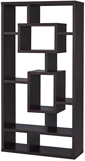 Coaster Home Furnishings 10-Shelf Bookcase, Cappuccino