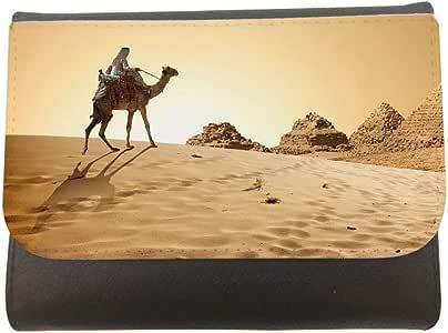 محفظة جلد بتصميم اهرامات مصر ، مقاس 11cm X 14cm