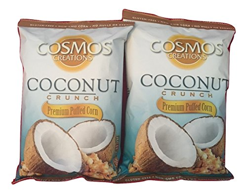 Cosmos Creations Coconut Crunch Premium Puffed Corn   2 Pack