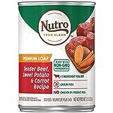 Nutro Premium LOAF Adult Canned Wet Dog Food Tender Beef, Sweet Potato