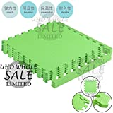 FB FunkyBuys Soft Outdoor/Indoor Protective Flooring Mats Kids Interlocking Foam Play Mat Set Floor Matting suitable for Gym, Play Area, Exercise, Yoga- Available in Vibrant Green Color - 24' x 24' Tiles (Green (60x60 cm), 32 SQ.FT - 8Pcs W/ Edges)