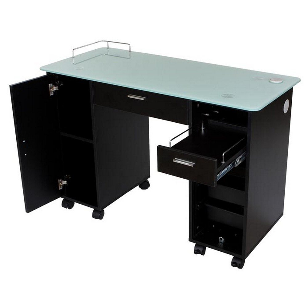 Icarus ''Superb'' Black Manicure Nail Table Station by Icarus (Image #2)