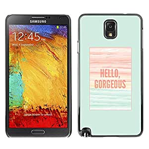 Plastic Shell Protective Case Cover    Samsung Galaxy Note 3 N9000 N9002 N9005    Teal Poster Summer @XPTECH