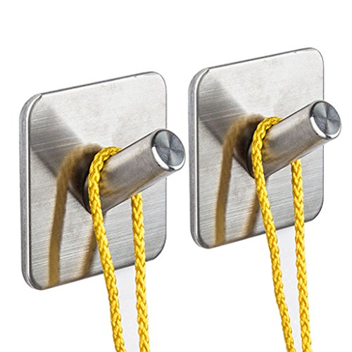 Kabter Towel Robe Hook 3M Self Adhesive on Wall Hook,SUS 304 Stainless Steel Brushed Nickel (Pack of (Install Shower Wall Tile)