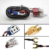 MOTOALL Universal GM 3 Wire Headlight Connector H4 9003 3 Prong Sealed Beam Headlights