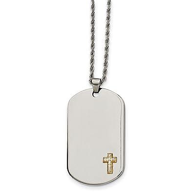 1ee164592f526 Amazon.com: ICE CARATS Stainless Steel 14k Diamonds Cross Religious ...
