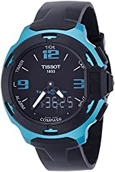 Tissot T-Race Touch Aluminium Black Dial Black Silicon Strap Mens Sports Quartz Watch T0814209705704