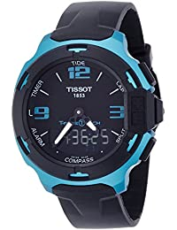 T-Race Touch Aluminium Black Dial Black Silicon Strap Mens Sports Quartz Watch T0814209705704