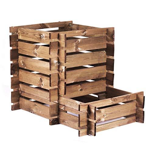 Compostador madera Farmbox: Amazon.es: Jardín