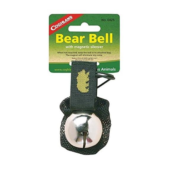 "Coghlan's Ringing Bear Bell Metal w/ Magnetic Silencer CHROME 1 Magnetic Bear Bell Bell Measures 1 1/2"" Diameter Magnetic Strap Silences Bell When Not In Use"
