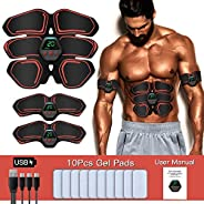 Abs Stimulator Muscle Trainer Ultimate Abs Stimulator Ab Stimulator for Men Women,Work Out Power Fitness ABS A
