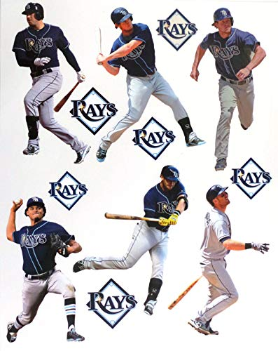 "FATHEAD Tampa Bay Rays Mini Graphics Team Set 6 Players + 6 Rays Logo Official MLB Vinyl Wall Graphics - Each Player 7"" INCH"