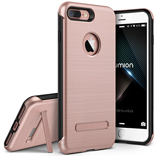 VRS Design:: [Duo Guard] Dual Layer Hard Drop Protection :: Slim Thin Fit :: Heavy Duty Shock Absorption Cover For Apple iPhone 7 Plus / 8 Plus [Rose Gold]