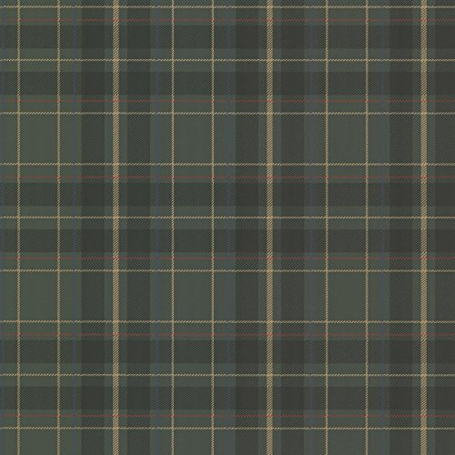 Beacon House 2604-21225 Caledonia Plaid Wallpaper, Dark Green ()