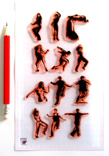 (Dancing Peoples Silhouette Clear Stamps Set)