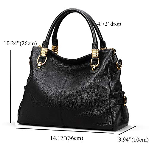 Buy black leather handbags