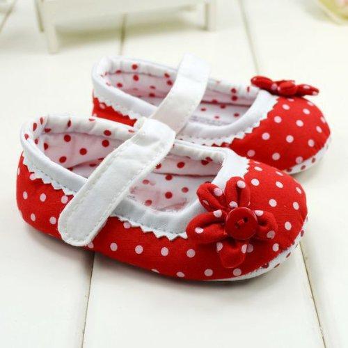 WXBUY Baby Girls Dot flower Soft Bottom