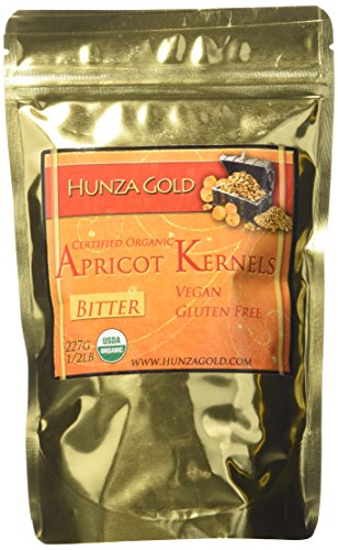 Hunza Gold Certified Organic Bitter Apricot Kernels - 1/2 Lb (227 (Apricot Seed)