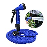 Garden Hose, 25ft Flexible Expandable Expanding Collapsible Garden & Lawn Water Hose with Free 7-Way Spray Nozzle for Car Wash Cleaning Watering Lawn Garden Plants