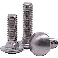 30 PCS 1//2-13x2-1//2 Grade 8 Round Head Square Neck Full Thread Carriage Bolts Plain