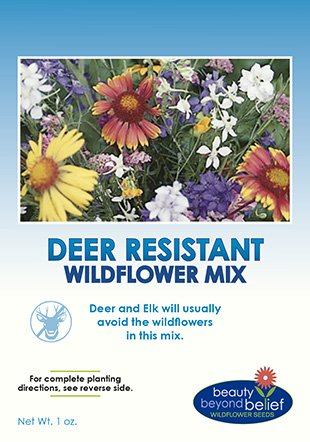 - Deer Resistant/Tolerant Wildflower Seeds Bulk + 8 Bonus Gardening eBooks + Open-Pollinated Wildflower Seed Mix Packet, Non-GMO, No Fillers, Annual, Perennial Wildflower Seeds for Planting - 1 oz
