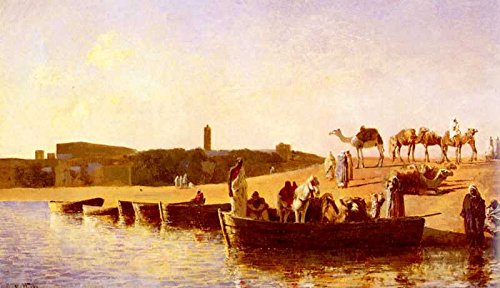 The Museum Outlet - Art Postcard - Weeks Edwin Lord At The River Crossing - Set of 12 - Outlet The Crossings