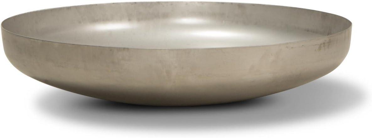 Acero Inoxidable DECORAS Brasero 60x60x15 cm Cuenco para hogueras Kl/öpperboden 600mm