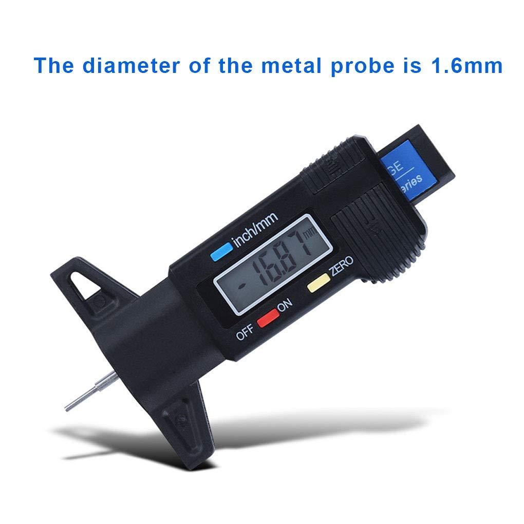 Laileya Car Digital Trace de Pneu Profondeur testeur de Trace de Pneu Jauge de Profondeur Indicateur LCD Affichage des pneus Mesure /Étrier