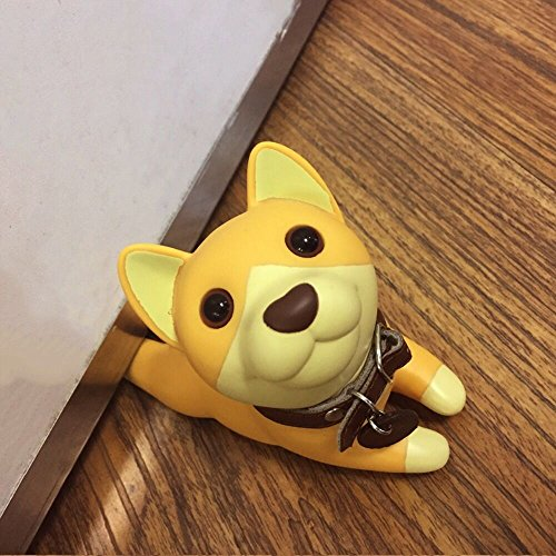 Aimyoo Decorative Door Stopper Lovely Animal Door Wedge, Non Scratching Slip Resistant (Corgi) ()