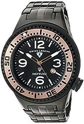 Swiss Legend Men's 'Neptune Force' Swiss Quartz Stainless Steel Casual Watch (Model: 21819P-BB-11-RA)