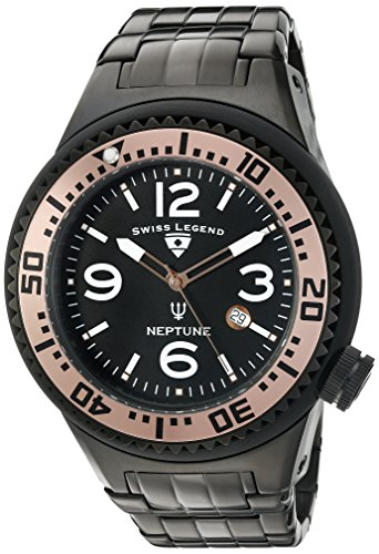 Swiss Legend Men's 'Neptune Force' Swiss Quartz Stainless Steel Casual Watch (Model: 21819P-BB-11-RA)