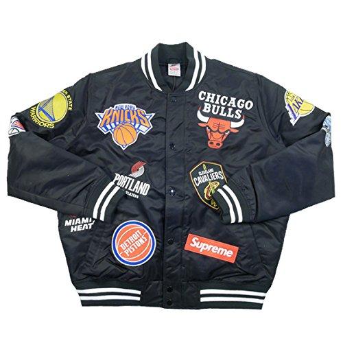 SUPREME シュプリーム ×NIKE 18SS NBA Teams Warm-Up Jacket ジャケット 黒 S 並行輸入品 B07BJ3MBRP