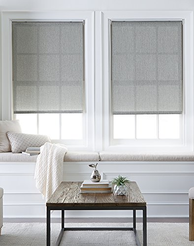 Curtainworks Lincoln Window Shade, 23″ W x 64″ L, Grey