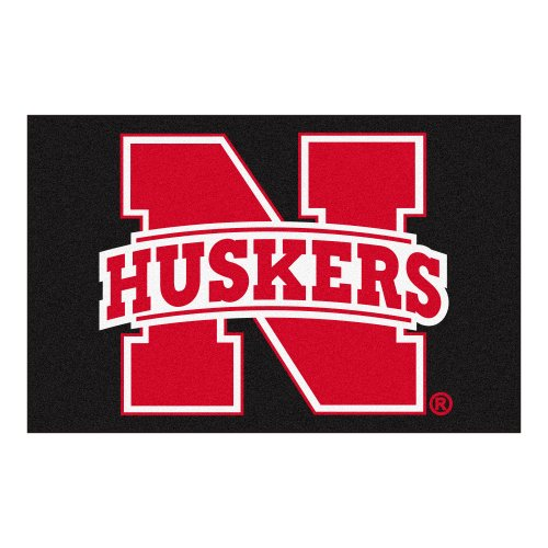 Nebraska Cornhuskers Floor - Fanmats NCAA University of Nebraska Cornhuskers Nylon Face Starter Rug