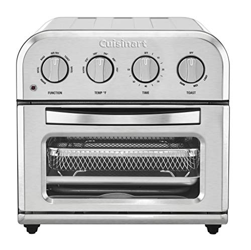 Cuisinart TOA-28 Compact AirFryer Toaster Oven Air Fryer, 12.5″ x 15.5″ x 11.5″, Silver