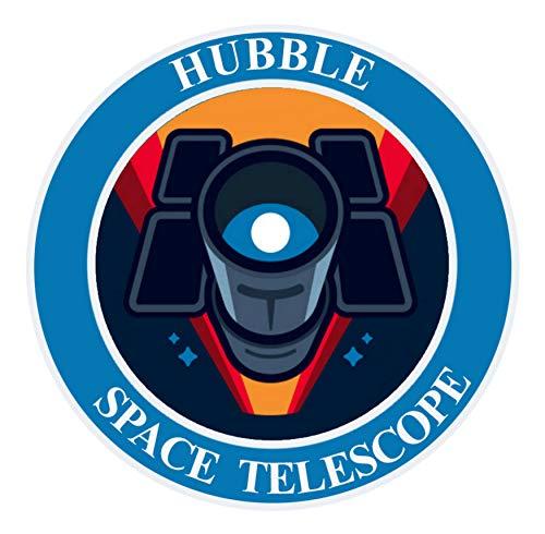 NASA Hubble Space Telescope - Die Cut Auto Car Vinyl Decal Sticker Adventure Explore Space Planets Series Emblem Badge DIY Application