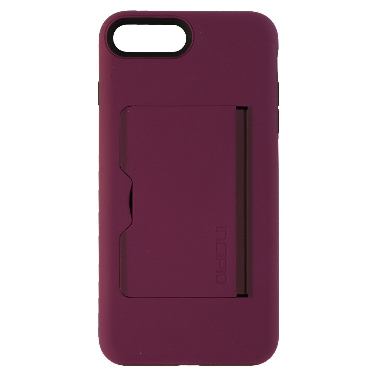 best service f915a 30169 Incipio IPH-1503-PLM Apple iPhone 7 Plus / 8 Plus Stowaway Credit Card Hard  Shell Case with Silicone Core - Plum