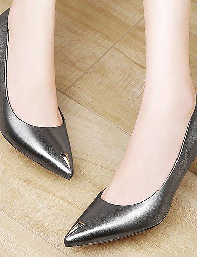 GGX/Damen Schuhe Patent Leder Frühling/Sommer/Herbst/Winter Heels Heels Office & Karriere/Casual Stiletto-Absatz schwarz/silber black-us6.5-7 / eu37 / uk4.5-5 / cn37
