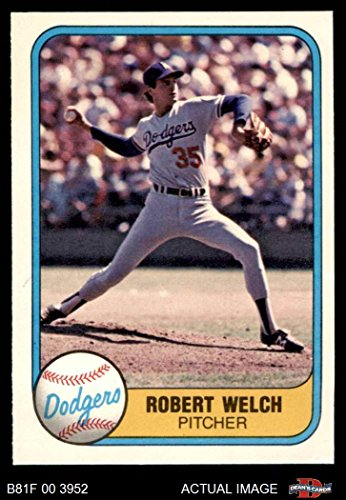 Amazoncom 1981 Fleer 120 Bob Bob Welch Dodgers Baseball